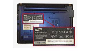 samsung laptop serial number