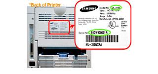 samsung printers serial number